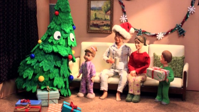 A sentient Christmas tree enjoys too brief a time with a family he'll revisit in toilet paper form.