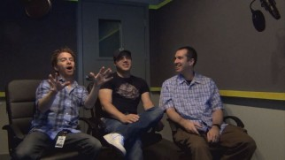 "Seth Green, Geoff Johns, and Matthew Senreich comment upon their Robot Chicken DC Comics Special in the short videos via the poorly-designed ""Chicken Nuggets."""