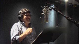 Alfred Molina, the voice of Lex Luthor, has a laugh in a reel of recording outtakes.