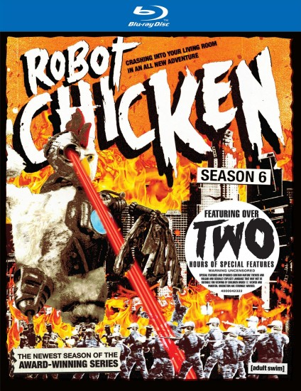 Robot Chicken: Season 6 Blu-ray Disc cover art -- click to buy from Amazon.com