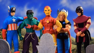 "The Avengers mourn a loss in a Season 6 ""Robot Chicken"" episode."