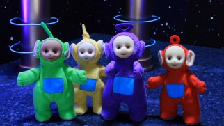 The Teletubbies join the Power Rangers in a 1990s-flavored sketch.