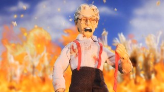 "Orville Redenbacher stands up to creepy children in ""Children of the Popcorn."""