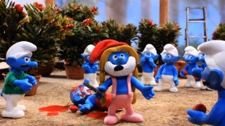 Smurfette declares herself the new Papa Smurf at the conclusion of the Smurfs' Hunger Games.