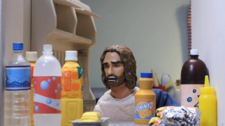 His purple stuff gone, Jesus has to settle for Sunny D.