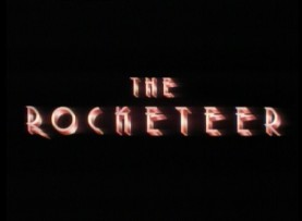 "The title logo for ""The Rocketeer"" appears in the movie's blurry standard definition theatrical trailer."