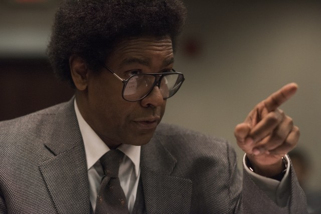 "Denzel Washington plays the title role of ""Roman J. Israel, Esq."", an unfashionably principled lawyer in present-day Los Angeles."