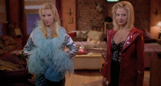 Roommates and longtime best friends Michele (Lisa Kudrow) and Romy (Mira Sorvino) get dressed up for a night on the town (and on the dance floor).