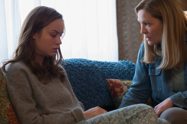 The miseries of Joy (Brie Larson) do not go away when she is rescued and reunited with her mother (Joan Allen).