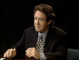 "Larry Pine does an impressive parody of PBS interviewer Charlie Rose in ""The Peter Bradley Show."""