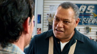 Larry Fishburne plays Del, a music equipment store owner whom Sam and Quentin befriend.