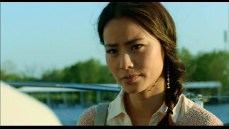 Fourth-billed Jamie Chung appears as scoop-pursuing journalist Lisa Martin in this deleted scene.