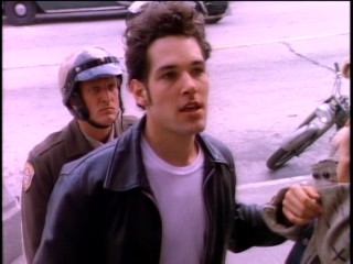 Paul Rudd makes one of his first movie appearances as the Brando/James Dean/Fonzie-inspired bad boy Jimmy Rusoff.