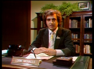A young Lorne Michaels introduces the Rutles in a 1970s Saturday Night (Live) clip.