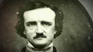 "The real Edgar Allan Poe preferred a simple moustache, as this old daguerreotype from ""The Madness, Misery and Mystery of Edgar Allan Poe"" demonstrates."