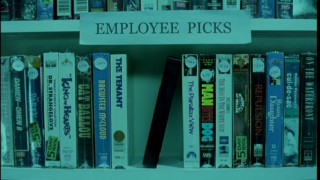 "The cursed unmarked tape winds up among classics on a video store's Employee Picks shelf in a deleted scene from ""Don't Watch This."""