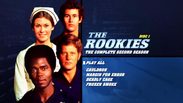 The Rookies' Season 2 DVD cover art also features on the menus for Discs 1 and 6.
