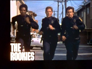 The Rookies run in a grainy title shot from the opening credits sequence.
