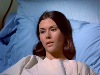 "In a reverse from the norm, nurse Jill Danko (Kate Jackson) is the one who needs the hospital bed after she is shot in ""A Matter for Justice."""