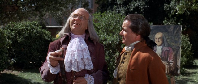 ... Adams (William Daniels) engage in comic banter in their first scene