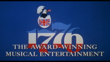 A British egg hatches an American bald eagle in the animated title logo from 1776's theatrical trailers.