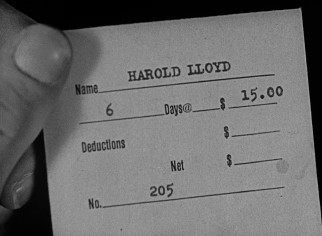 Back in the summer of 1922 when this was shot, $15 was a conceivable week's wage for a department store sales clerk like Harold Lloyd.