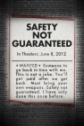 Safety Not Guaranteed (2012) movie poster