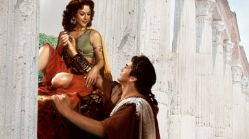 Samson and Delilah's Blu-ray menu doesn't do the most graceful job of expanding the cover to fill the 16:9 frame.