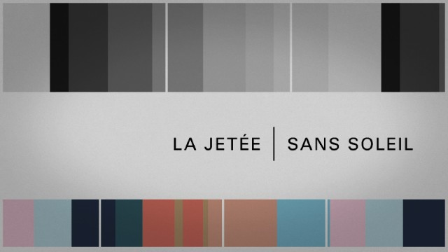 Before giving each film its due, the main menu represents them with this greyscale/color palette split-screen.