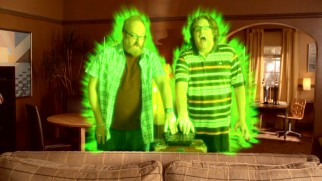 An enchanted dragon telephone causes Brian (Brian Posehn) and Steve (Steve Agee) to switch bodies.