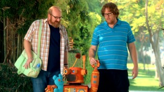 "Brian (Brian Posehn) and Steve (Steve Agee) have a robot son in ""Just Breve."""