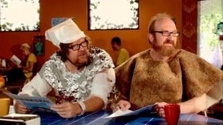 Steve (Steve Agee) and Brian (Brian Posehn) dress creatively while each shuns laundry duties.