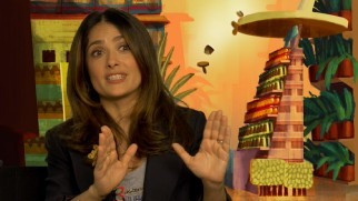 Salma Hayek, who voices a lesbian taco, shares her thoughts on this creative venture.