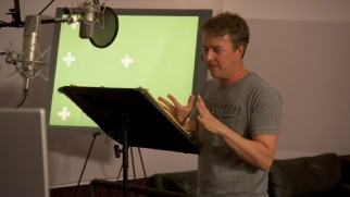 "Multiple Academy Award nominee Edward Norton channels Woody Allen to voice a Jewish bagel, as seen in ""The Booth."""