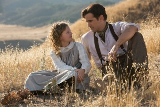 """Saving Mr. Banks"" laboriously continues to return to the Australian upbringing of Ginty (Annie Rose Buckley) by her father Travers Goff (Colin Farrell)."