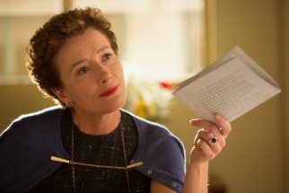 "P.L. Travers (Emma Thompson) holds the unsigned adaptation rights over Walt Disney and his staff well into the production of ""Mary Poppins."""