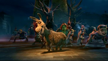 "Donkey leads an undead dance in Shrek's tribute to Michael Jackson's ""Thriller."""