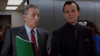 Network CEO Preston Rhinelander (Robert Mitchum) is the only one Frank (Bill Murray) can't talk down to.