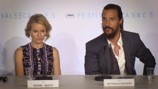 "Naomi Watts and Matthew McConaughey discuss ""The Sea of Trees"" at Cannes 2015, where the film's hopes quickly went south."