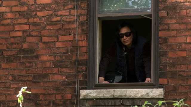 Peek-a-boo! Sixto Rodriguez sees you.