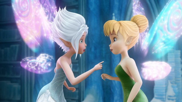 Tinker Bell finds a sister, a twin, and a new best friend in Periwinkle, whose identical wings glow just like her own.