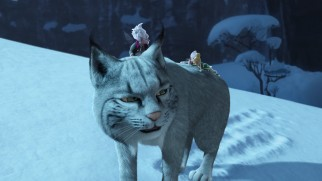 Fiona the lynx returns Tinker Bell back to Pixie Hollow after a fun but chilly day in Winter Woods.