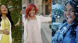 "The McClain sisters take Secret of the Wings' settings to heart in their music video for ""The Great Divide."""