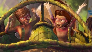 "Chloe helps Rosetta discover the thrills of teamwork and getting dirty in the bonus TV special ""Pixie Hollow Games."""