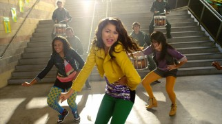 "Zendaya Coleman is cool in school in her drumline-accompanied ""Dig Down Deeper"" music video."