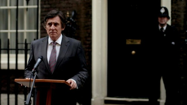 "Tom Dawkins (Gabriel Byrne) unifies the United Kingdom during a time of crisis, prompting his promotion to Prime Minister in ""Secret State."""