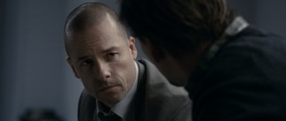 Simon (Guy Pearce) offers his organization's services to a highly upset Will in the hospital.