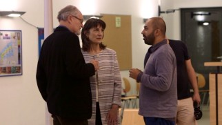 "Ritesh Batra directs Jim Broadbent and Harriet Walter on the set of ""The Sense of an Ending"" as seen in making-of featurette ""Power of Memory."""