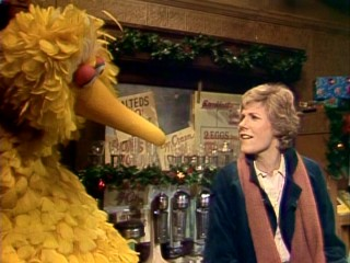 Oddly, Anne Murray sings a non-seasonal love song to Big Bird.
