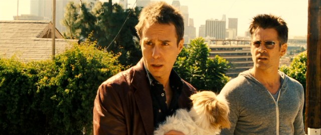 With stolen Shih Tzu in hand, Billy (Sam Rockwell) and Marty (Colin Farrell) suspiciously eye the first responder to their classified ad's call for psychopaths.